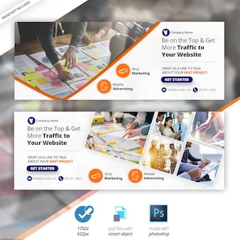 Marketing d'entreprise facebook timeline cover banner