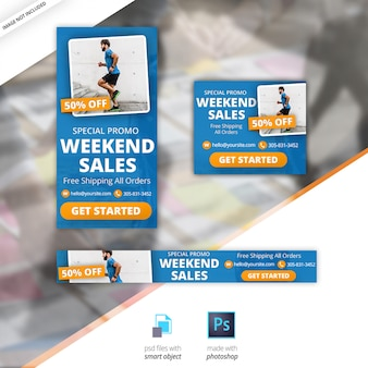 Marketing d'entreprise google banner set