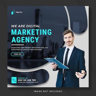 Marketing numérique pour les publications sur les réseaux sociaux ou le modèle de bannière carrée