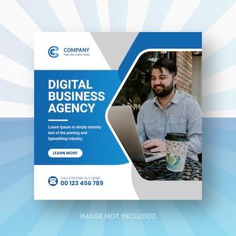 Marketing numérique réseaux sociaux publication instagram ou conception de bannière web