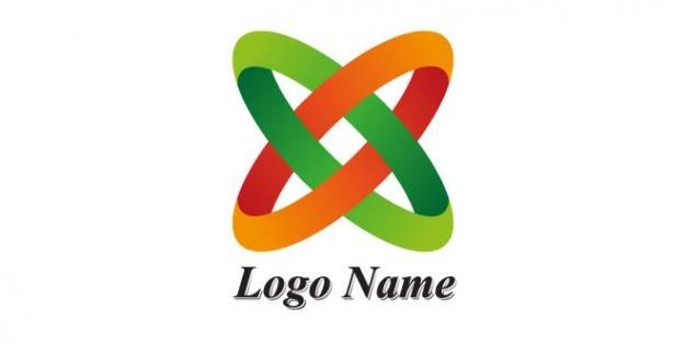 Marque la conception de logo avec des anneaux