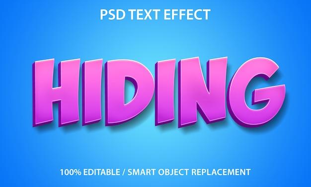Masquage des effets de texte modifiables