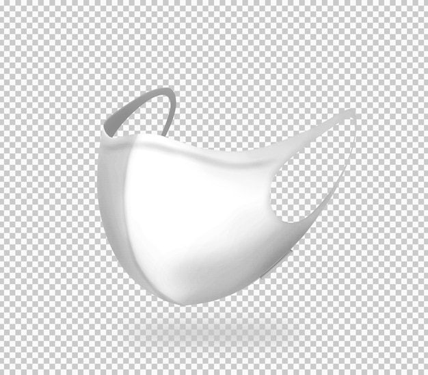 Masque blanc 3d isolé