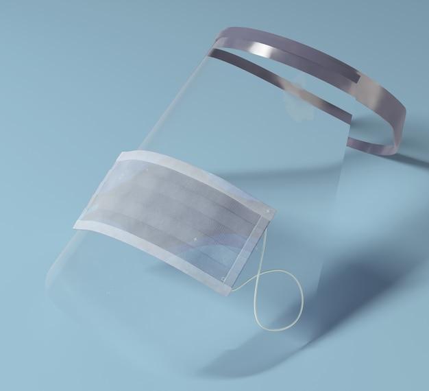 Masque médical à angle élevé sur l'écran facial