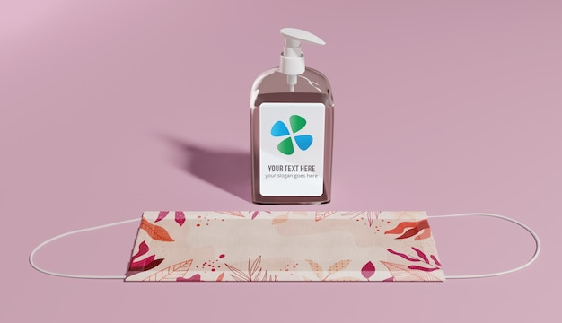 Masque de protection à angle élevé et bouteille de savon