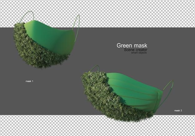 Masque de protection vert