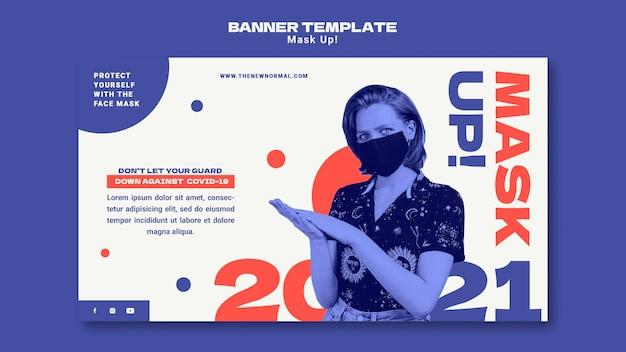 Masquer Le Modèle Horizontal 2021 Psd gratuit