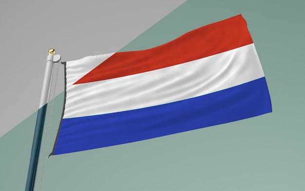 Mât de drapeau avec le drapeau de la france