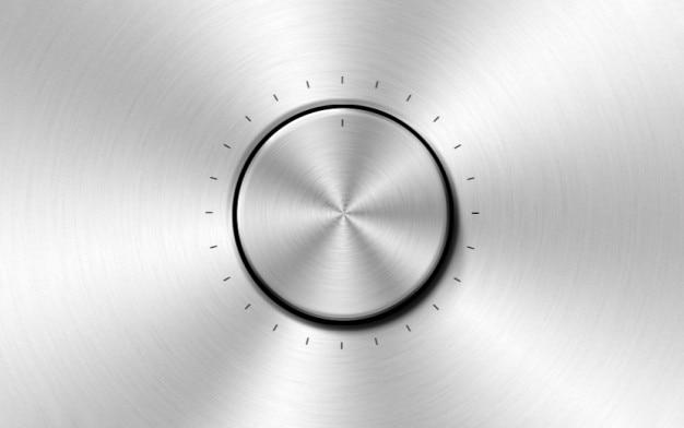 Matériel psd bouton métallique