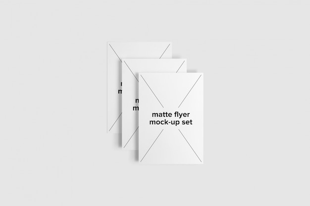 Matte flyer mock up set