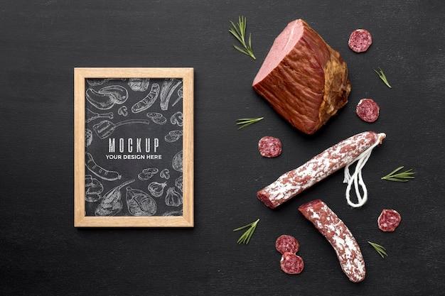 Mcock-up délicieux salami