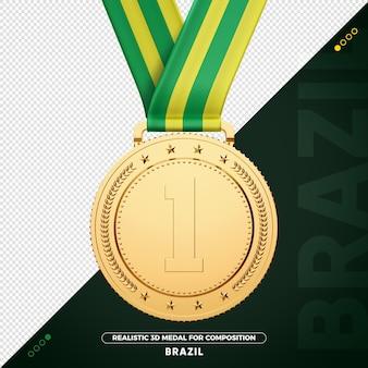 Médaille d'or du brésil pour la composition
