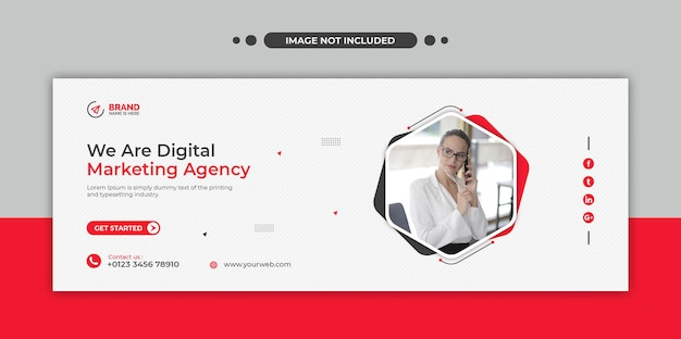 Médias sociaux de l'agence de marketing numérique, instagram, bannière web ou modèle de flyer carré