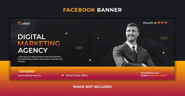 Les médias sociaux de l'agence de marketing numérique publient une couverture facebook et un modèle de bannière web