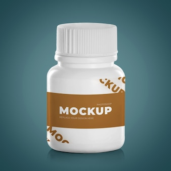 Médicaments médicaments blancs comprimés capsules flacon plastique isolé