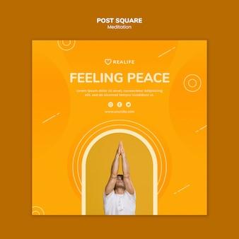 Méditation sentir la paix post square