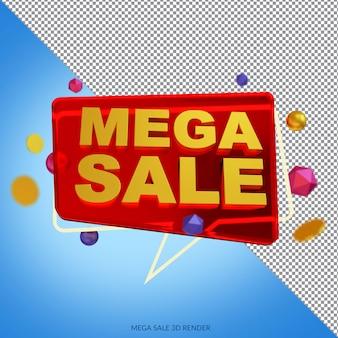 Méga vente 50 pour cent de réduction sur le rendu 3d