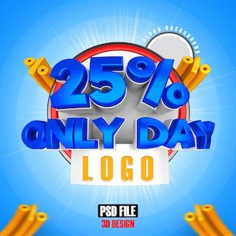 Méga vente bleue 25 jours seulement conception de rendu 3d