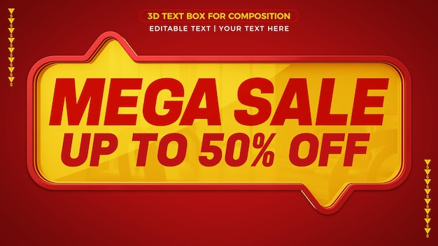 Méga vente jusqu'à 50 sur la conception de la bannière