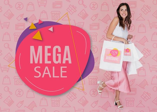 Mega ventes disponibles pour la section femme