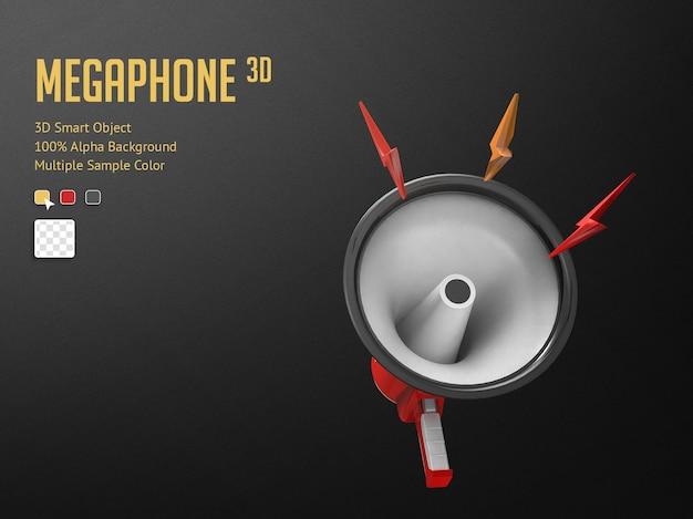Mégaphone réaliste 3d