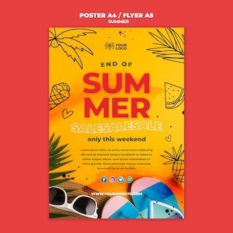 Meilleur modèle d'affiche de vente d'été