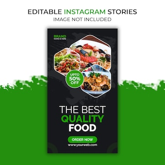 Meilleur modèle d'histoire instagram de nourriture