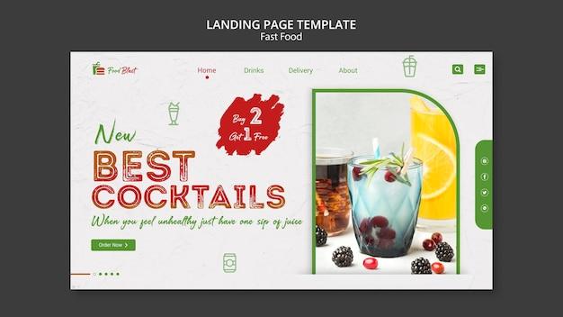 Meilleur modèle de page de destination de cocktails