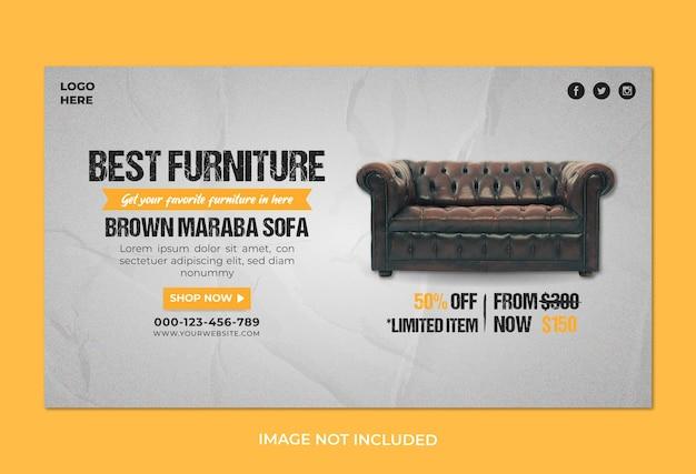Meilleur modèle de publication de bannière carrée de meubles