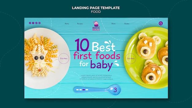 Meilleure page de destination des aliments pour bébés