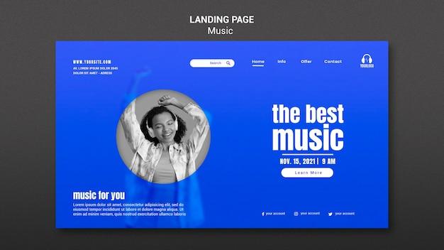 Meilleure Page De Destination Musicale Psd gratuit