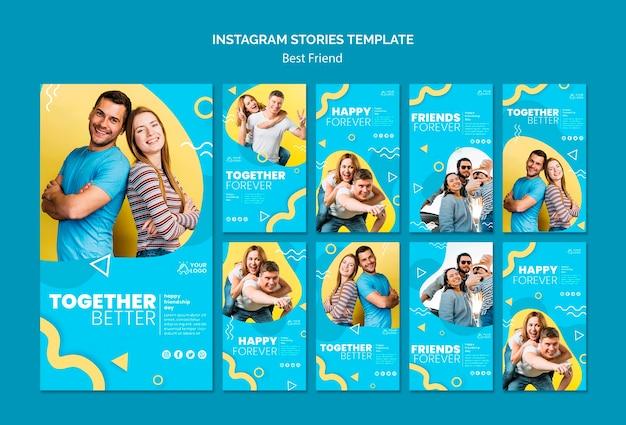 Meilleures histoires instagram d'amis