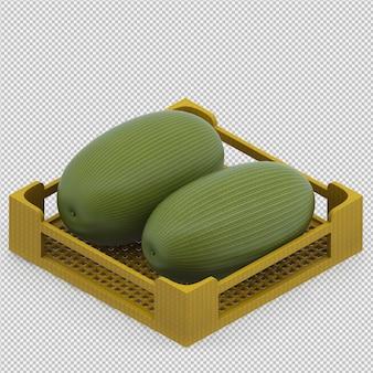 Melon d'eau rendu 3d