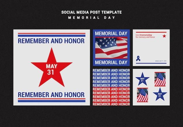 Memorial day instagram posts