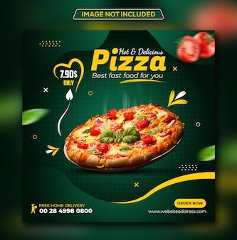 Menu alimentaire et promotion du restaurant modèle de conception de publication instagram sur les médias sociaux psd premium