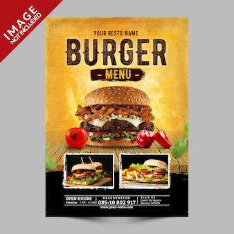 Menu burger promotion