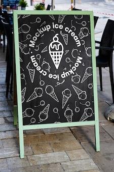 Menu de la maquette de la crème glacée