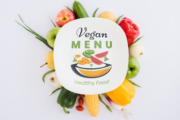 Menu végétalien concept de la nourriture saine