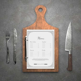 Menus du restaurant