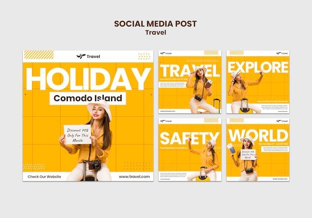 Message de vacances sur les réseaux sociaux