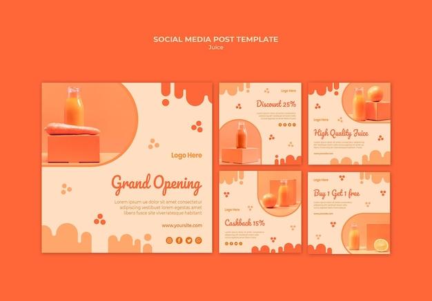 Messages sur les réseaux sociaux sur le jus d'orange