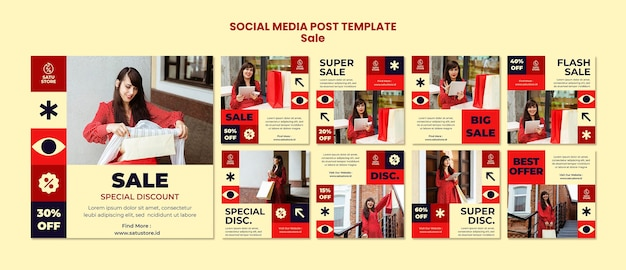 Messages sur les réseaux sociaux des ventes rouges