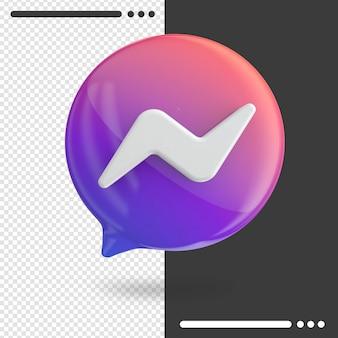 Messenger en rendu 3d isolé