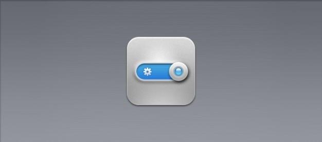 Métal interrupteur bouton icône psd