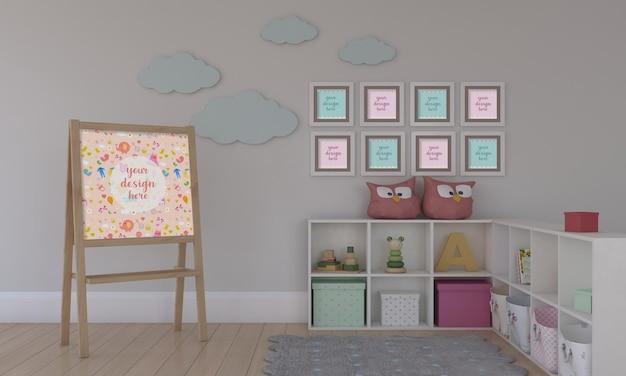 Meubles pour enfants avec maquette de jouet et de cadre