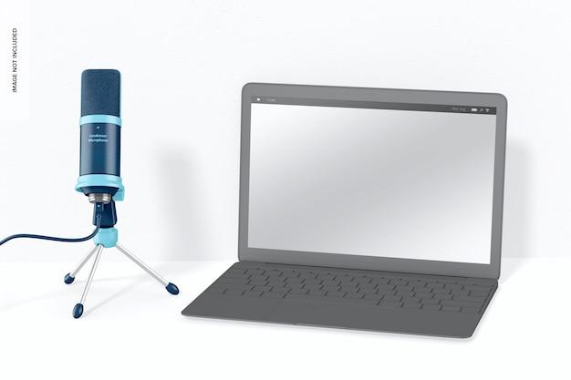 Microphone à condensateur avec maquette pour ordinateur portable