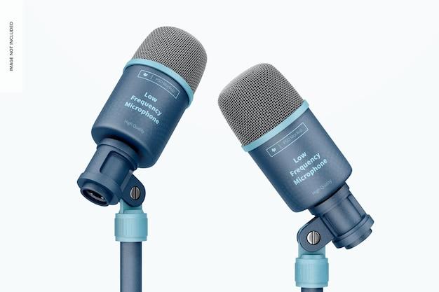 Microphones basse fréquence avec maquette de support