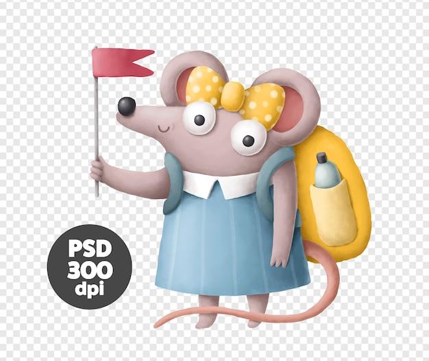 Mignon petit personnage de souris