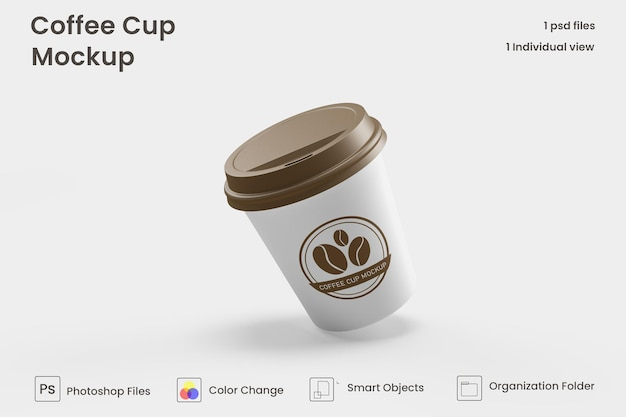 Mini maquettes de tasses à café psd premium