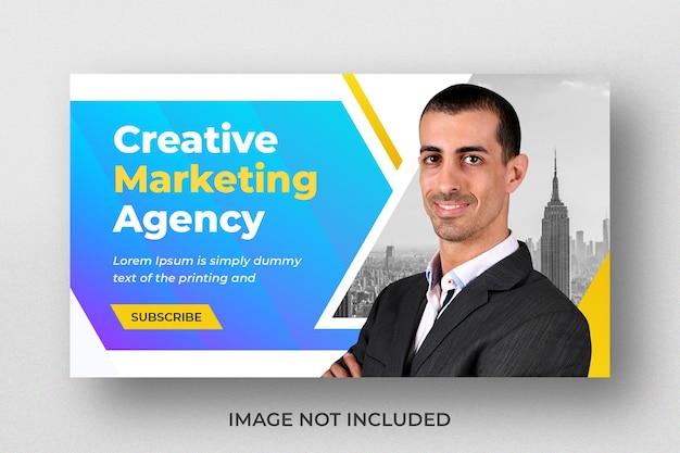 Miniature de vidéo youtube pour une agence de marketing numérique créative